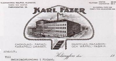 Fazerin kirjepaperi 1908.